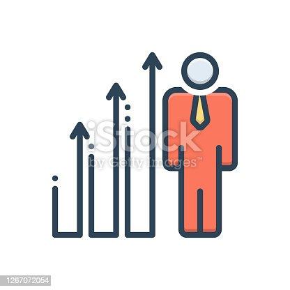 Icon for advancing, outdo, slog, outrun, increase, growth, enhancement, augmentation