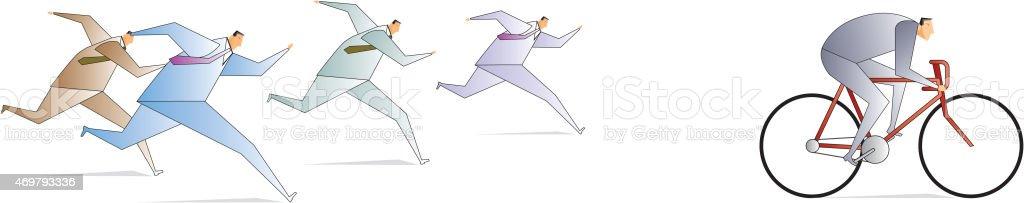 Advantage vector art illustration