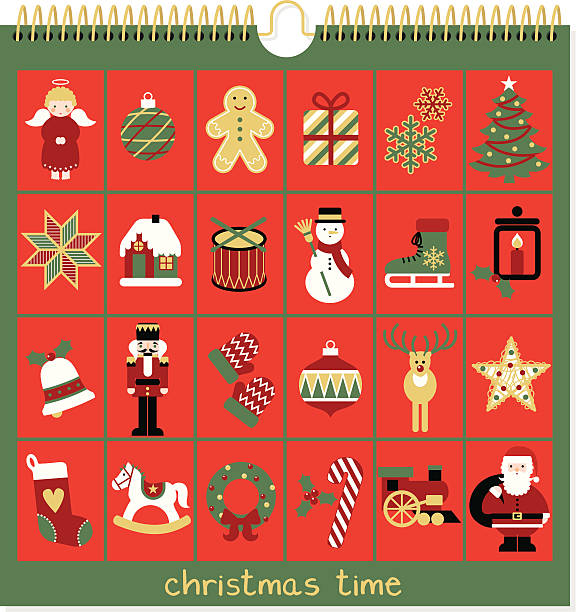 Christmas Calendar Illustration : Royalty free advent clip art vector images