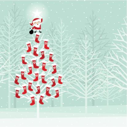 Advent calendar on a christmas tree