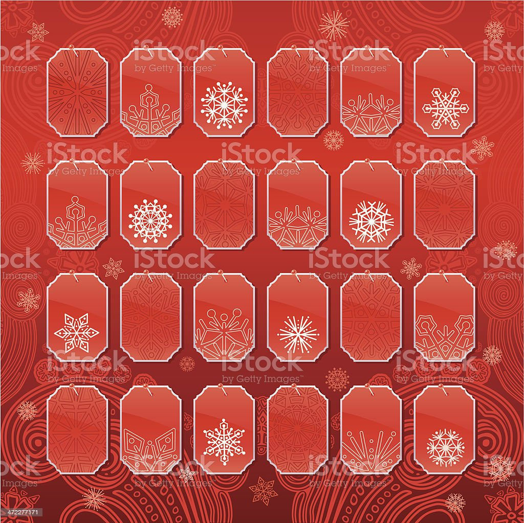 Advent Calendar (Red) royalty-free advent calendar stock vector art & more images of adhesive note