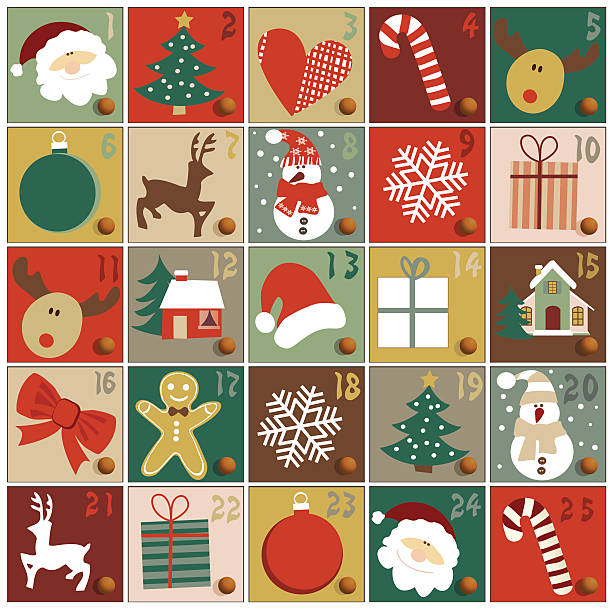 Advent calendar – Vektorgrafik