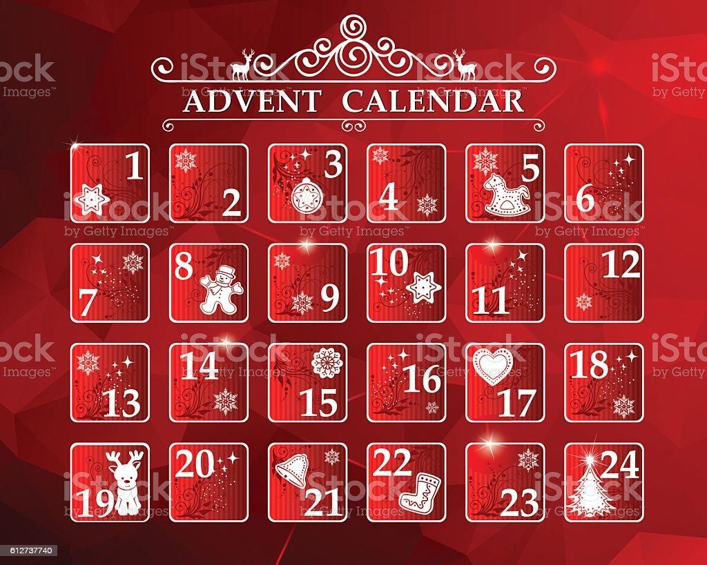 Advent Calendar - Royaltyfri Advent vektorgrafik