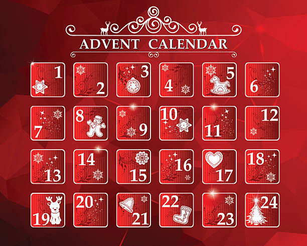 advent calendar - advent stock illustrations
