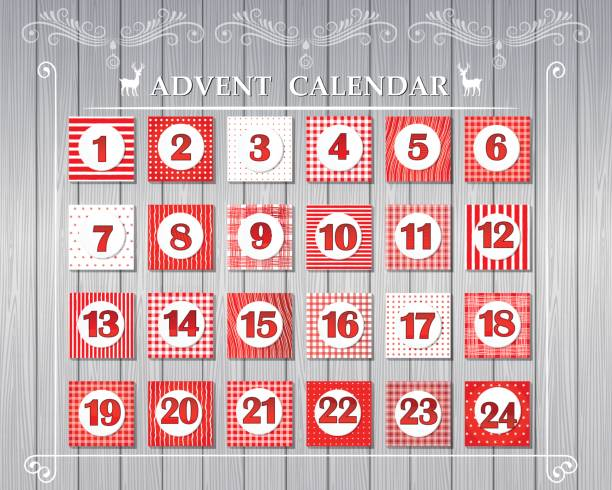 Advents-Kalender – Vektorgrafik