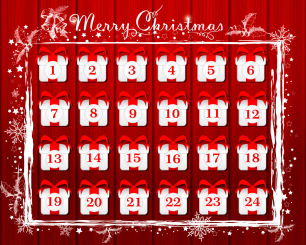 advent calendar - advent stock illustrations