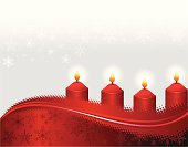 Red Christmas Candle. ZIP contains AI format, PDF and jpeg XLarge.