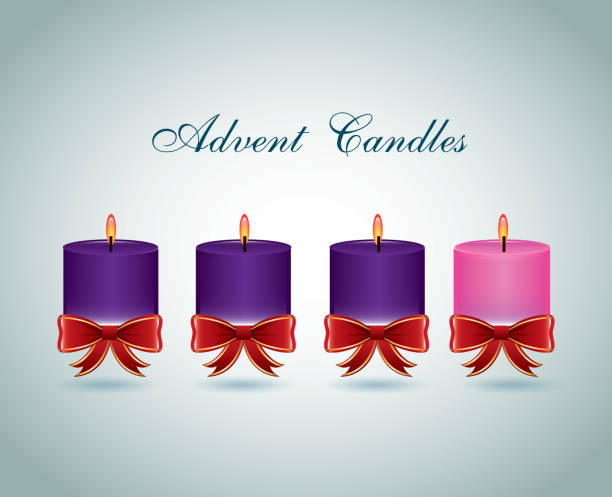 royalty free advent candles clip art vector images. Black Bedroom Furniture Sets. Home Design Ideas