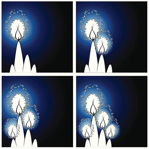 Advent velas - ilustración de arte vectorial