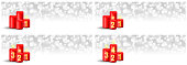 advent candles with numbers vector banner set