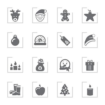 Advent & Christmas Icons   Framed Grey