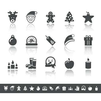Advent & Christmas Icons   Simple Grey