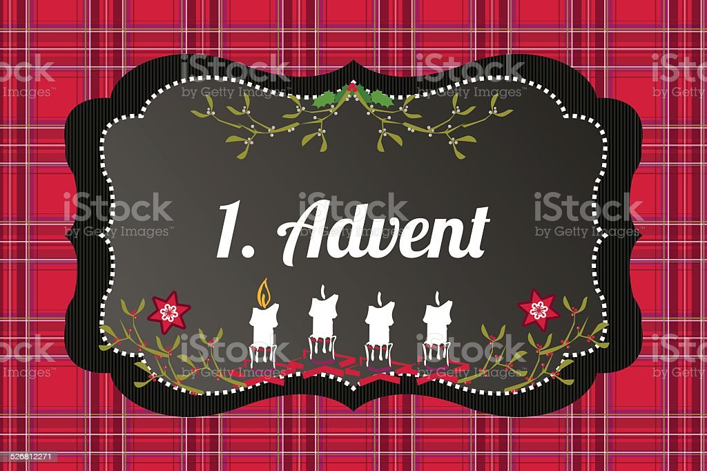1. Advent vector art illustration