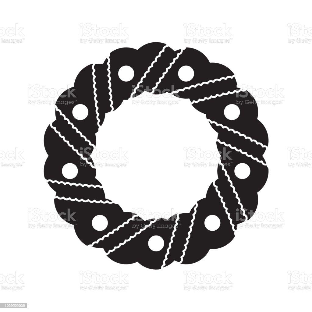 Ilustración De Icono De La Corona De Adviento O Signo Aislado Sobre Fondo Blanco Diseño Plano Navidad Y Año Nuevo Diseñan De Elemento Ilustración De Vector Y Más Vectores Libres De Derechos