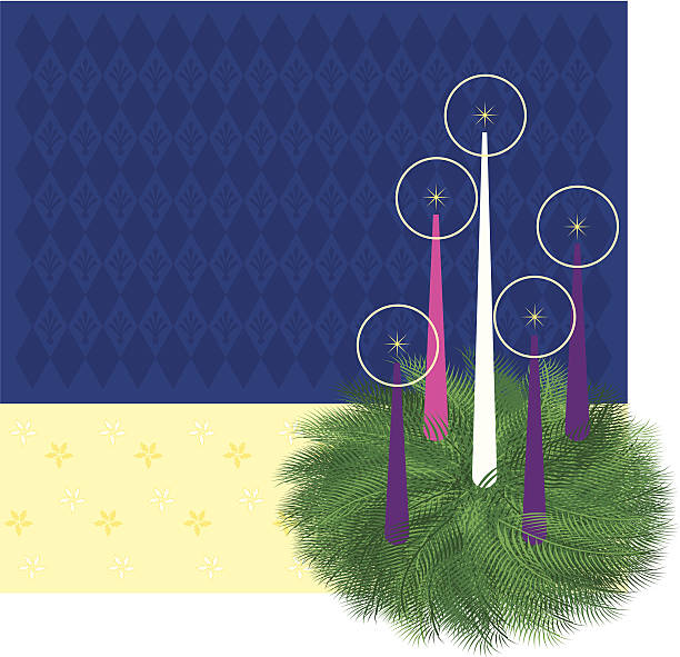advent wreath - advent stock illustrations
