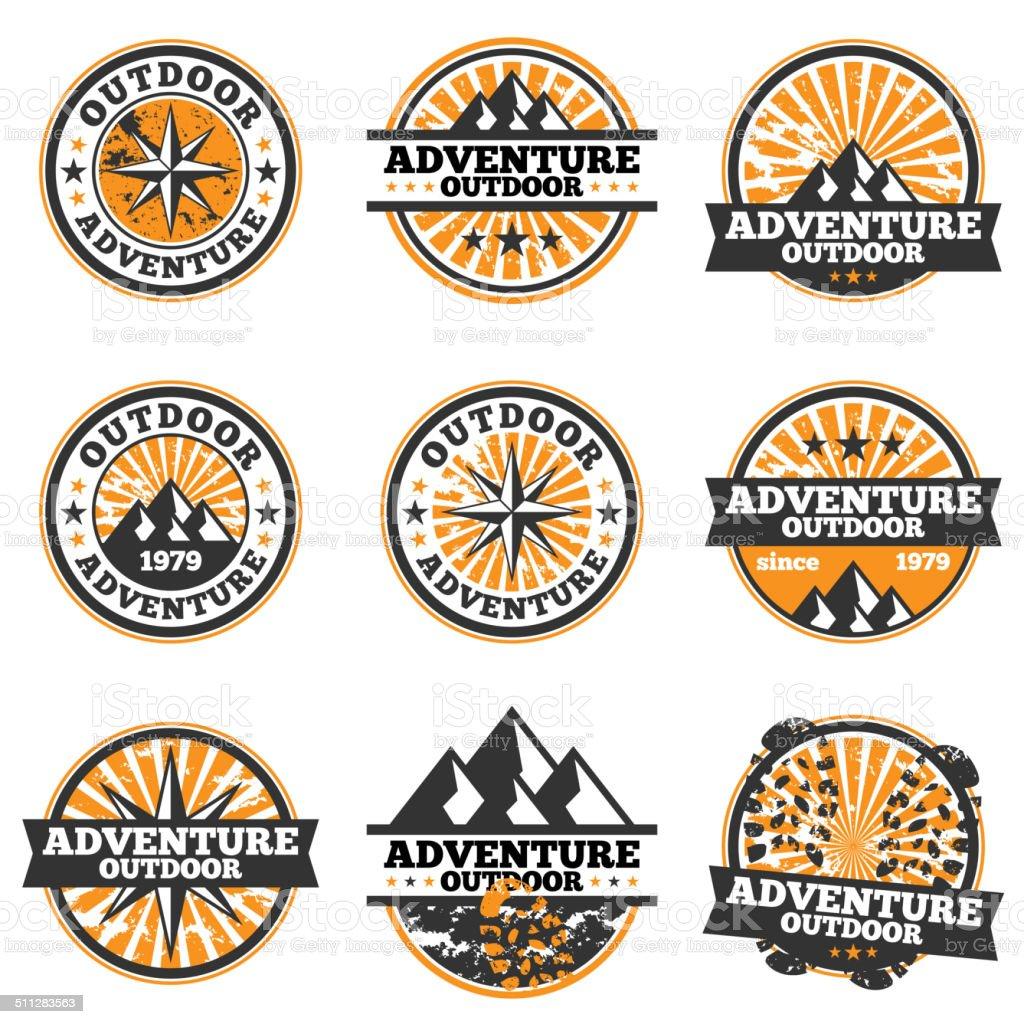 Adventure Badge vector art illustration