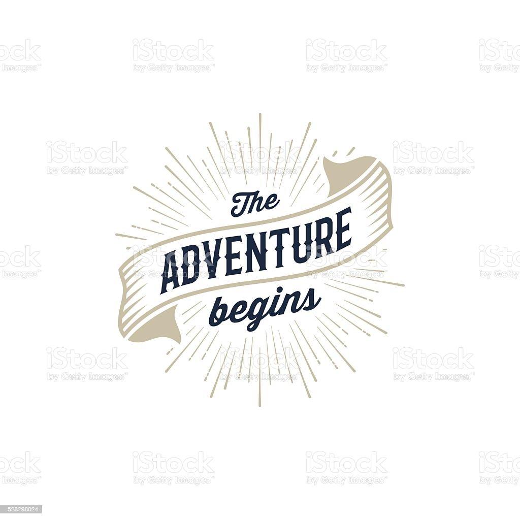 Adventure begins gold