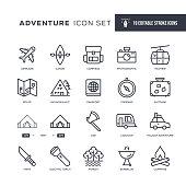 istock Adventure Editable Stroke Line Icons 1327269007