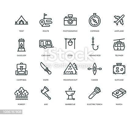 istock Adventure Icons - Line Series 1056787808