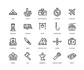 istock Adventure Icons - Line Series 1056787808