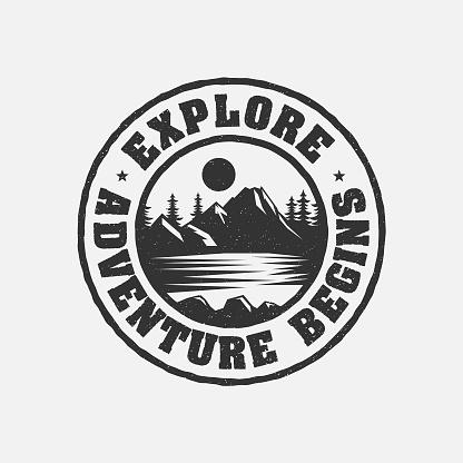 Adventure Mountain Badge Logo