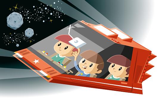 Adventure spaceship
