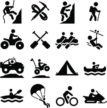 Adventure Sports Icons - Black Series