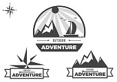 Black and white symbols for adventure time