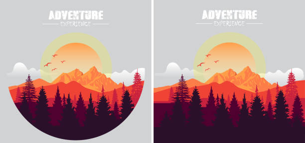 Adventure Adventure mountains stock illustrations