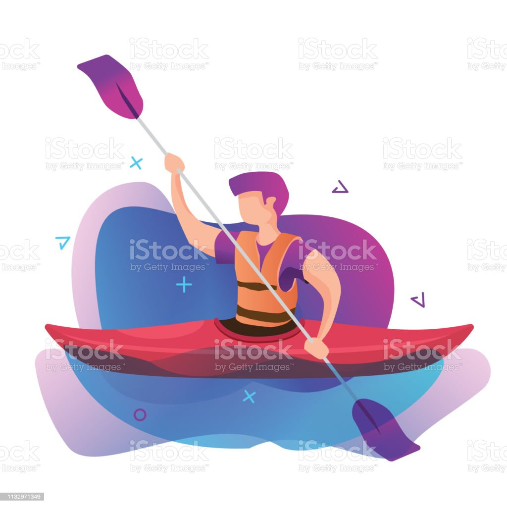 Outdoor activity, canoeing, kayaking competition, kayak and kayaker...