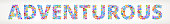 Adventurous Future and Futuristic Technology Vector Buttons.. This royalty free vector illustration features a word made up of education and e-learning buttons of various sizes and colors. Each button features an icon in white and the buttons form a seamless pattern to make up each letter and word. The background of the image is light with a slight gradient. The word is conceptual in nature and include such classic educational icons as school, laptop computer, graduation cap, microscope, students studying and many more. The buttons are red, blue, green, orange in color and the image is very vibrant.