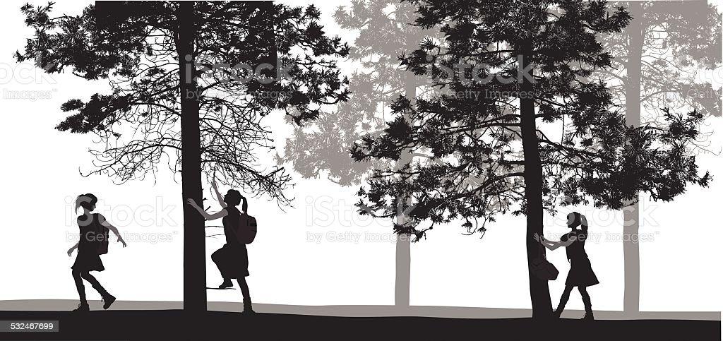 Adventurous vector art illustration