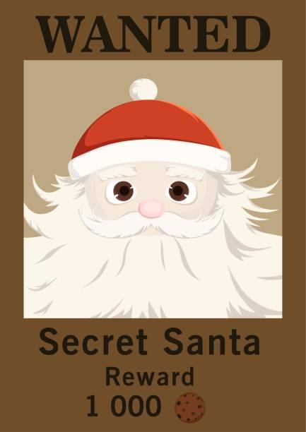advertisement wanted secret santa - secret santa messages stock illustrations