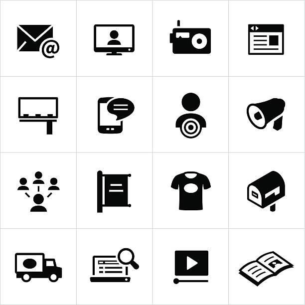 ilustrações de stock, clip art, desenhos animados e ícones de ícones de publicidade e promoção - video call