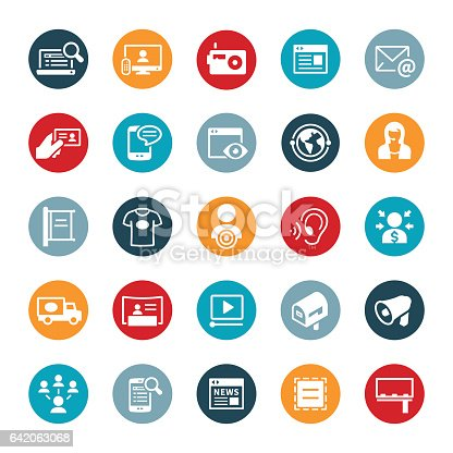 istock Advertising and Promotion Icons 642063068