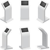 Advertising display terminal for payment or interactive kiosk