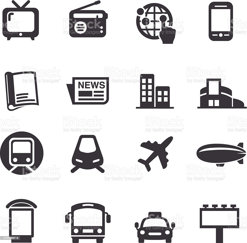 Advertising Media Icons - Acme Series vector art illustration