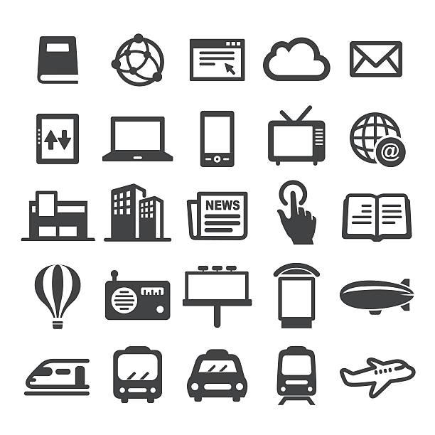 Advertising Media Icons - Smart Series - Illustration vectorielle