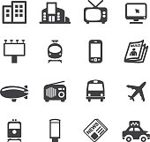 Advertising Media Silhouette icons | EPS10