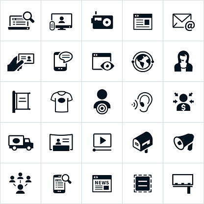 Advertising Methods Icons