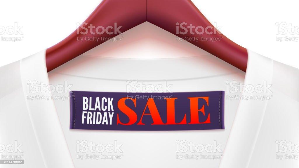 Werbung Für Black Friday Umsatz Kleidung Mit Tag Kleiderbügel Hängen ...