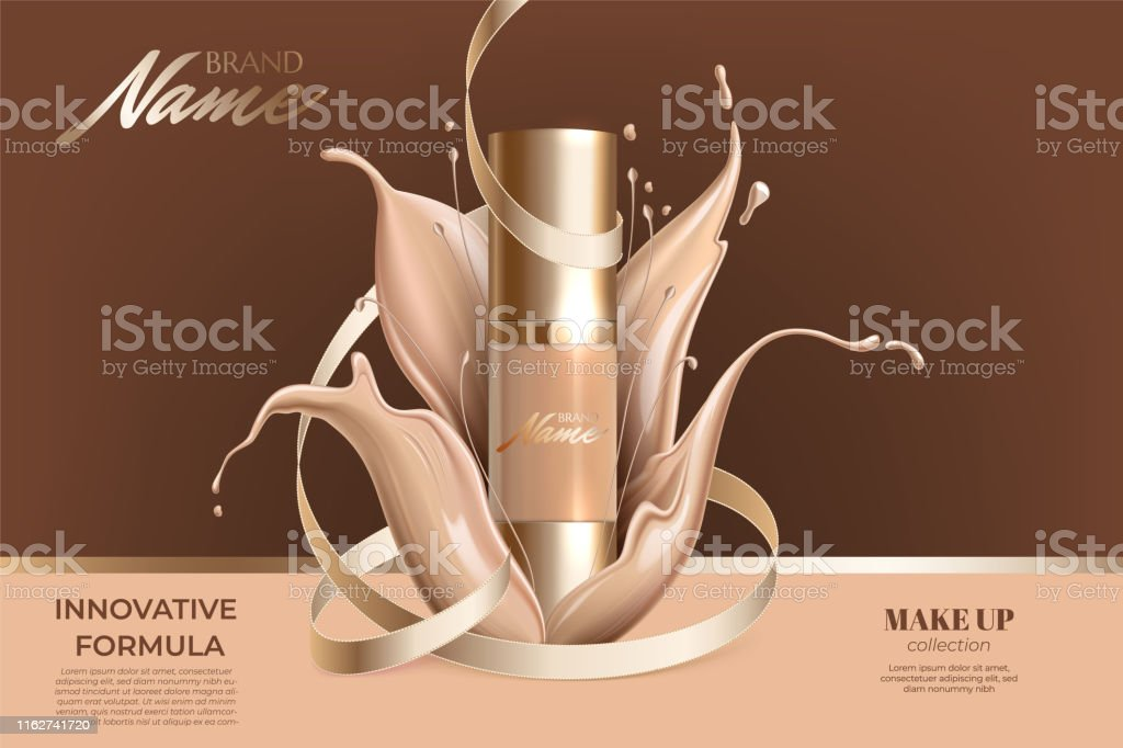 Advertising poster for cosmetic product for catalog, magazine. Design...