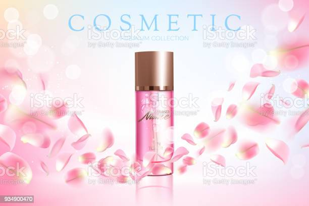 Advertising poster for cosmetic product with rose for catalog vector vector id934900470?b=1&k=6&m=934900470&s=612x612&h=achpezba6mjkfsl48yslg1mkweqei3zh7ohngdmrexa=