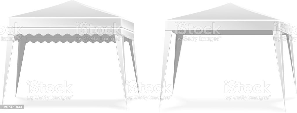 Advertising promotional outdoor mobile tent . Mock up blank template. vector art illustration