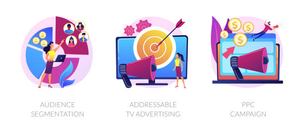advertising technologies vector concept metaphors. - addressable stock illustrations
