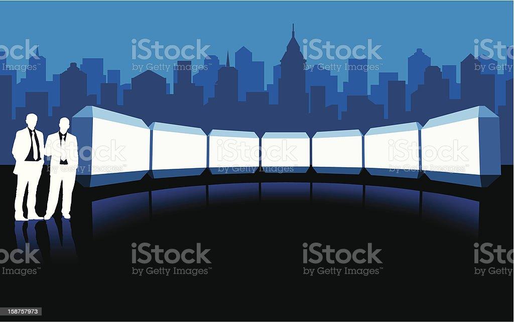 Advertising vector art illustration