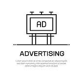 Advertising Vector Line Icon - Simple Thin Line Icon, Premium Quality Design Element