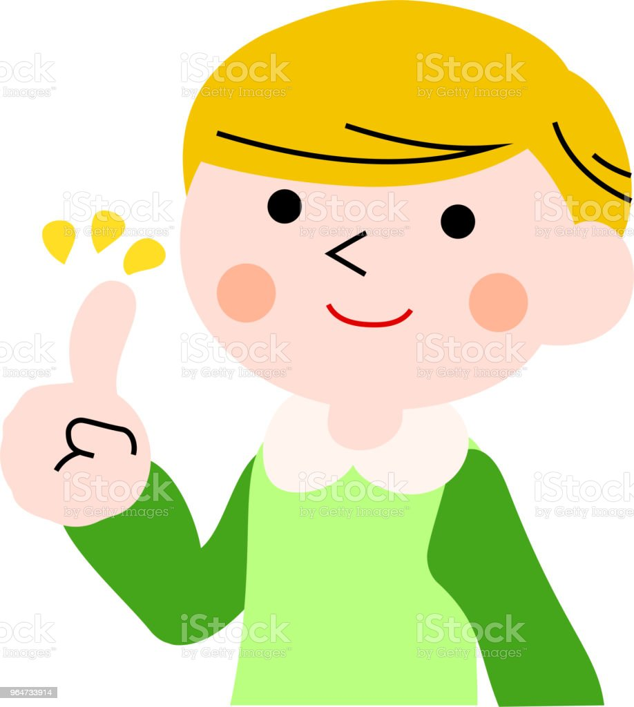 Advising boy with pigtails 1 royalty-free advising boy with pigtails 1 stock vector art & more images of adolescence