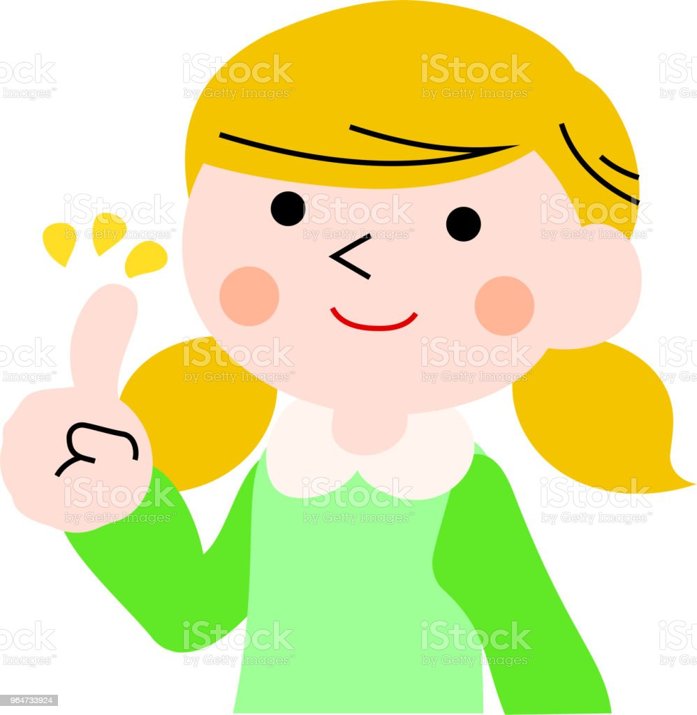 Advising girl with pigtails 1 royalty-free advising girl with pigtails 1 stock vector art & more images of adolescence