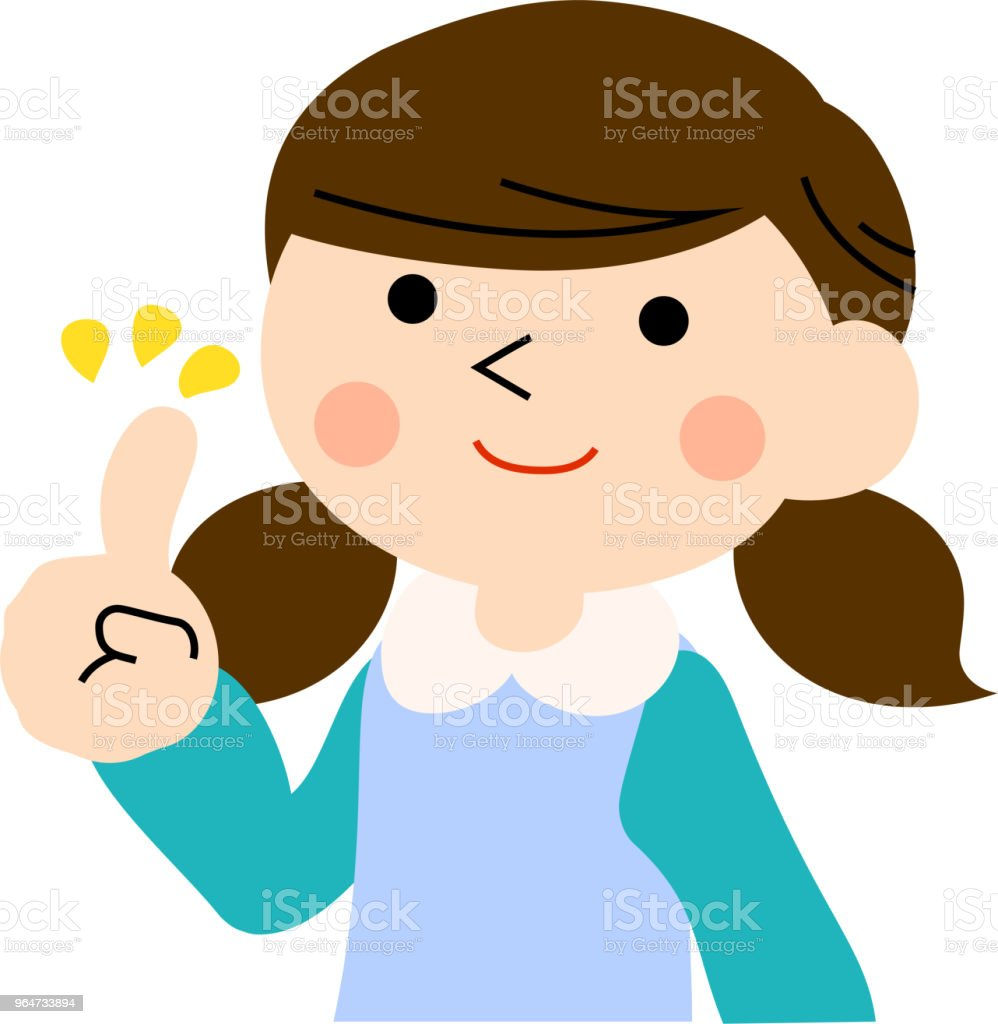 Advising girl with pigtails 2 royalty-free advising girl with pigtails 2 stock vector art & more images of adolescence